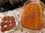 coconut cookies and polenta with herbs angus hamburger oil.jpg
