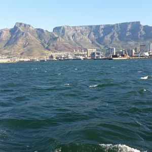 View of Table Mountain from boat