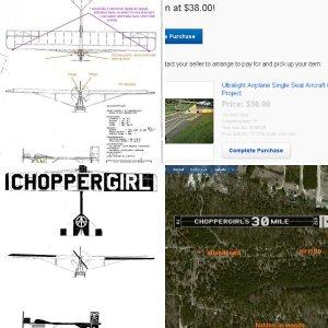 """Dorothy Demoiselle"", Choppergirl's $38 Volmer Jensen VJ-24W Ghost Plane, Album 0"