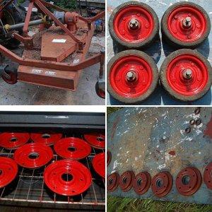Derusting and Rebuilding Mower Wheels with New Bearings