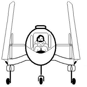 the sportsman front view wings folded and seating