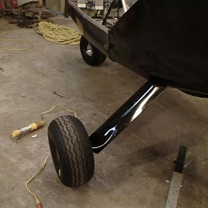 Installed landing gear fairings and brakes. Nov.22,11