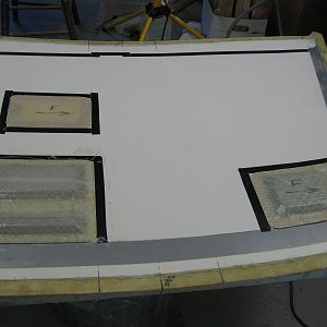 These are the completed doors, ready to be taped to the mold.