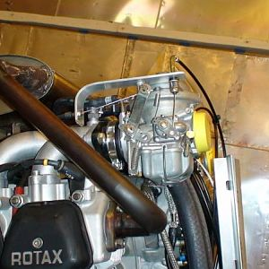 Connect throttle and choke. Rans and Rotax do not supply needed parts to make throttle and choke work so there is a lot of tedious work making them. F