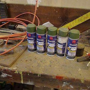Zinc phosphate primer spray cans