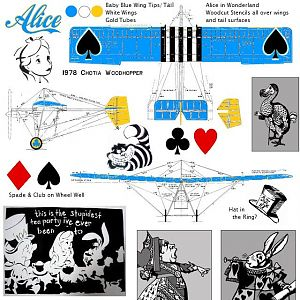 Alice Three View Solid Blue Wing