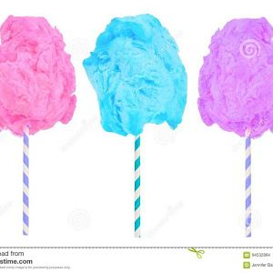 cotton candy pink blue purple colors isolated white background 94532864