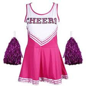 Pink and Purple Cheerleading outfit