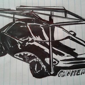 SharkTeeth Choppergirl Car