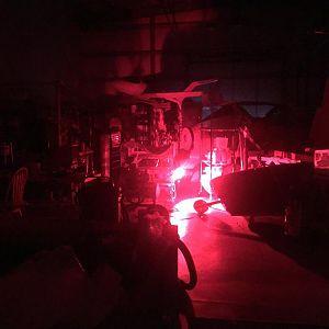Heat lamps at night