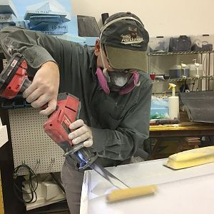 Another phenomenal tool for a specialty sanding job. Extremely versatile and controllable by various means: angle of tool to sanding cylinder axis, an