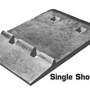 single shoulder rail tie plate