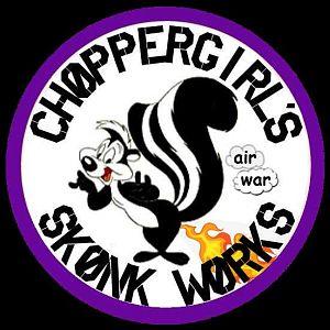 Skunkworks Logo Purple Black Flames