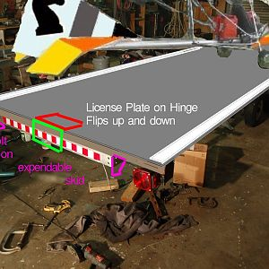 Licence Plate Hinge