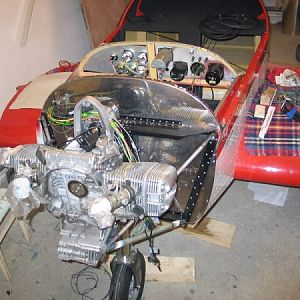 BMW1100RS in CH601 2 on temporary frame