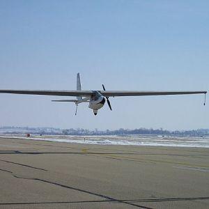 Alnair landing after her maiden flight as N601CE.....02/17/2004