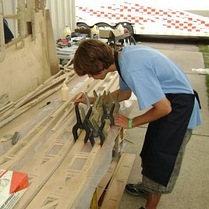 TS 1 glueing spar sections
