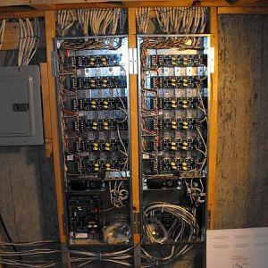 Lighting subpanel and control panels.