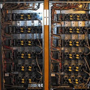 Lighting control panels, took me 8 hours. Tired fingers, tired back.