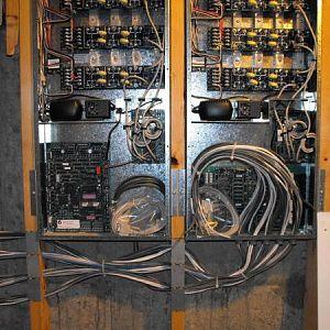 Lighting control panels.