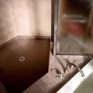 Custom neo angle shower