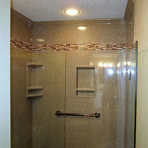Onyx wall Panels with tile inlay