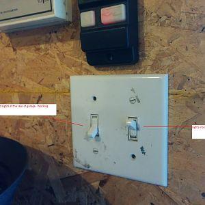 Garage Light Switches
