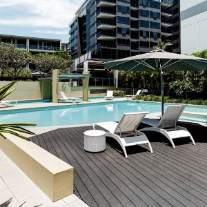 Outdoor Decking for Pool and Garden