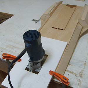 routing the slot for the strut