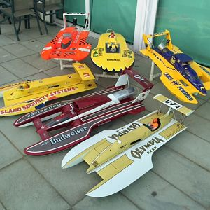 1/8 Scale Hydro boats, All FE powered