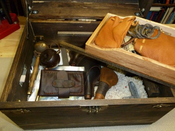 7-2014Muzzleloader supplies wood case I built inside2sm.JPG