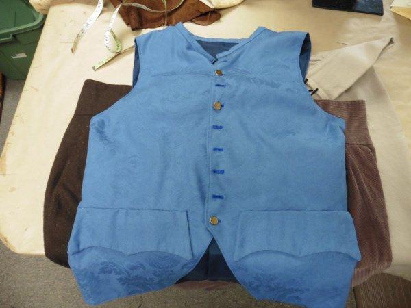 blue waistcoat 23 across size 44 - 46.JPG
