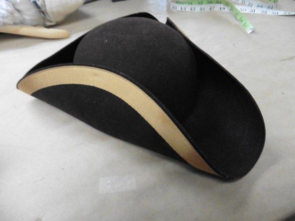 brown tri corner hat Large.JPG