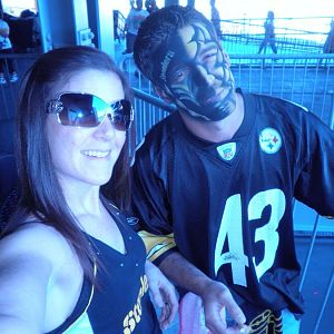 steeler game with wife