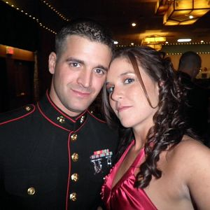 mairne corps ball with wife
