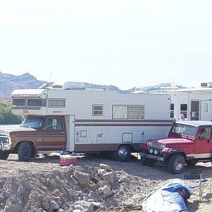 Rollalong and Jeep at Colorado River