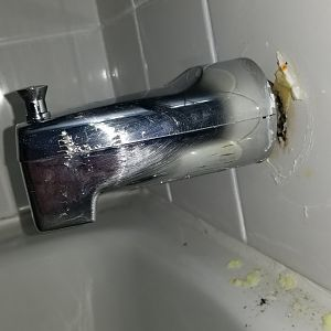 Moen tub spout, how is this connected??