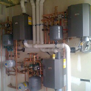 NTI Ti150 combo w HW exchanger. Very good for small apartments.