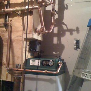 Snow/Ice melting. Glycol feeder. Heat exchanger.