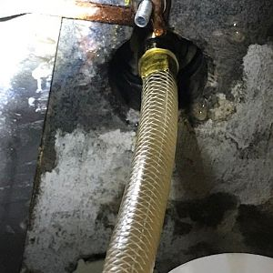 Sprayer hose to gooseneck faucet