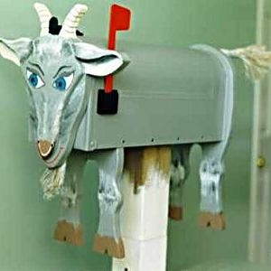 Goat mailboxes