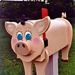 Pig mailboxes