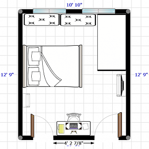 Tiny shared room layout