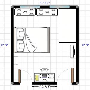 Tiny shared room layout
