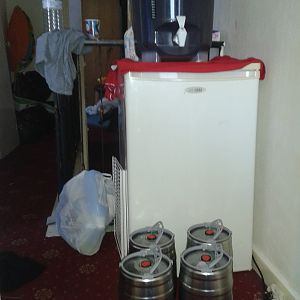 fermenter/fermenting chamber and kegs