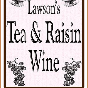 Tea & Raisin Wine Label