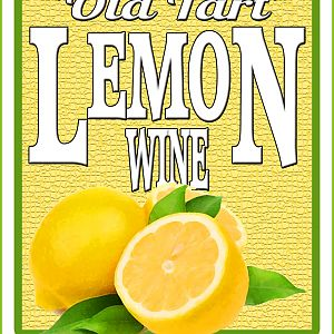 Lemon Wine Label