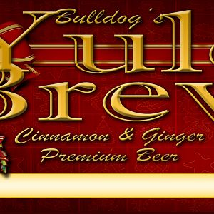 Bulldog Yule Brew Label