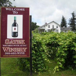 Satek Winery in NE Indiana. One of our winery stops along the way.