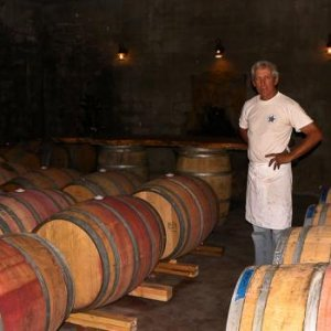 This is a photo of Mark Greene, owner and winermaker at the Elkin Creek Vineard. Elkin Creek is a smaller vineyard, but the wines are excellent, and Mr. Greene and his wife Nikki are wonderful hosts, making everyone feel right at home. Mr. Greene was so k